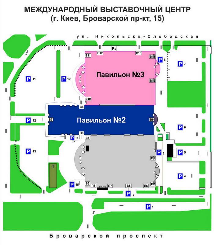Схема Зала. МВЦ