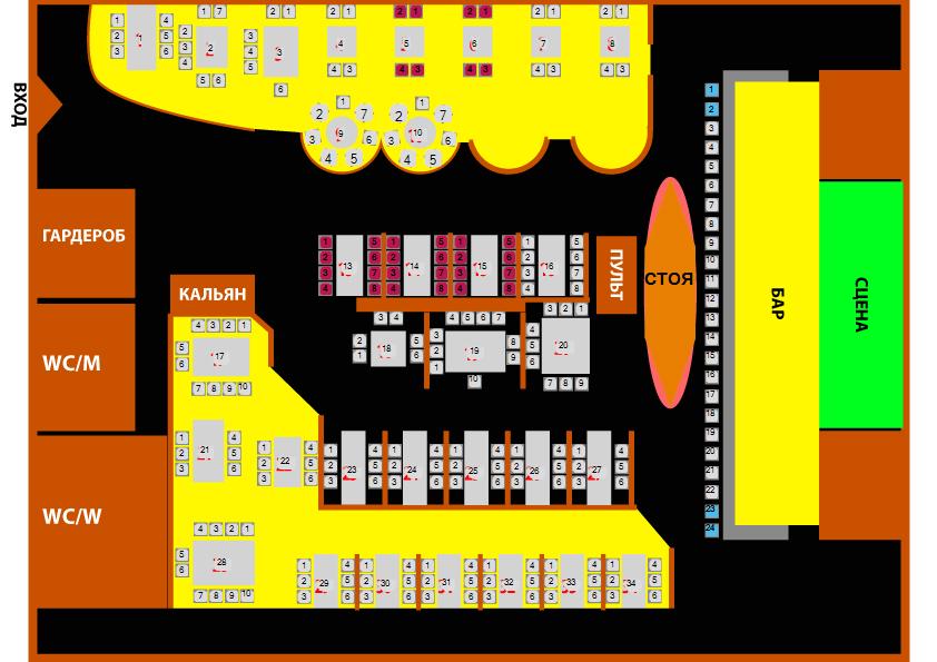 Схема зала Docker Pub