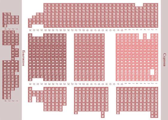 Схема зала Одесской Филармонии