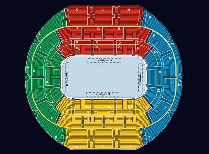 Схема Зала Минск-Арена