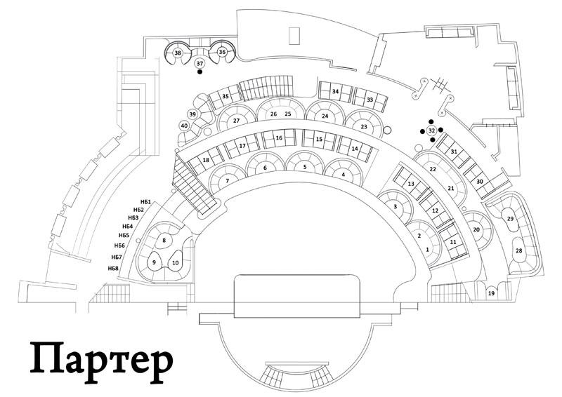 Схема зала PALLADIUM