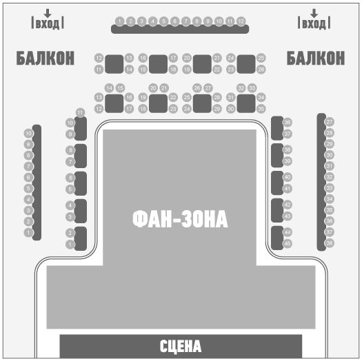 Схема клуба Sentrum Киев